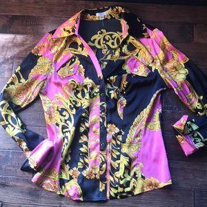 Vintage cache blouse